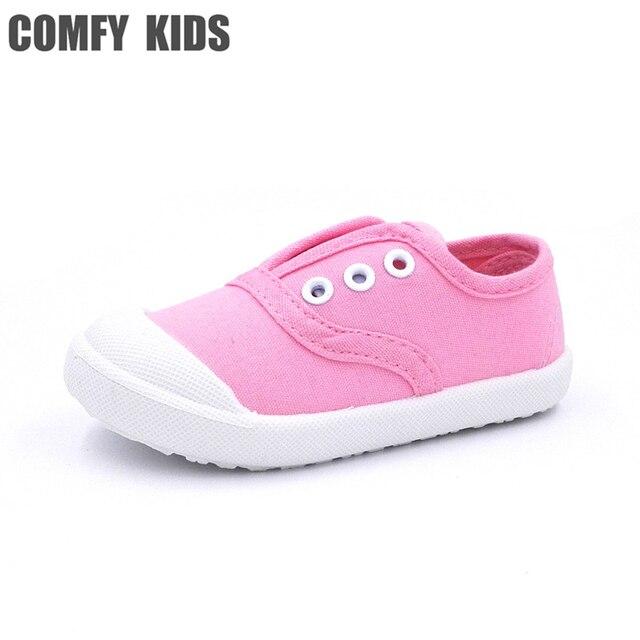 dcf08e2bdfeaf Printemps automne mode casual taille 21-30 filles garçons toile shoes fond  mou bébé garçons