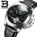 Оригинальные швейцарские часы BINGER  Мужские автоматические механические светящиеся водонепроницаемые спортивные часы с секундомером и кал...