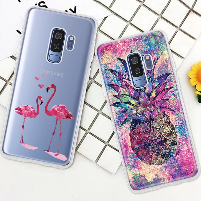 Soft Silicone Cases For Samsung Galaxy S9 S8 S10 Plus S7 Edge Note 9 8 Cartoon TPU Printed Protective Fundas For Samsung A50 A30