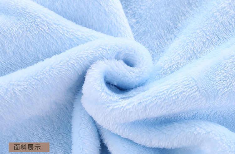 2019 Dễ Thương Thu Đông Cotton Áo Liền Quần Nỉ Dài Tay Coverall Trùm Đầu Cho Trẻ Sơ Sinh Áo Liền Quần Liền Hình Gấu Xuống Snowsuit