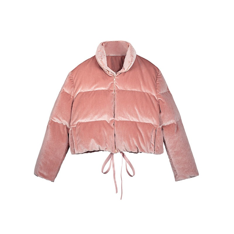 Young17 Women Jacket 2018 Autumn Pink Loose Casual Classic Streetwear Fashion Zipper Pocket Warm Coats Women Fall Jacket