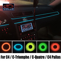 Newest EL Wire For Citroen C4 C Triomphe C Quatre C4 Pallas Car Decoration Cold Light