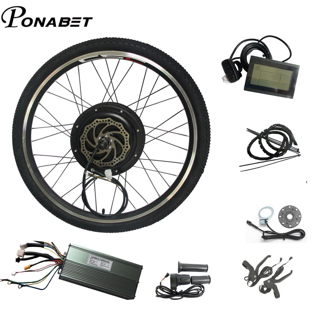 "Electric Bicycle 48V 1500W 26/"" 28/"" Rear Wheel Hub Motor Conversion Kit"
