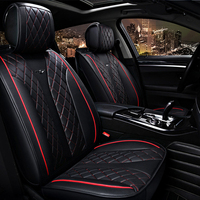 5 seats Car Seat Cover 5D Senior Microfiber Leather Sponge Layer Seat Cushion Senior Leather pad Sport Car Styling For Sedan SUV