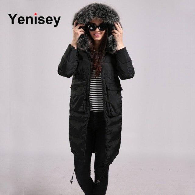 Новинка 2016 года поступление Зима Куртки Пух женские пальто Мех парка с капюшоном зимние Парка на пуху Для женщин 0728