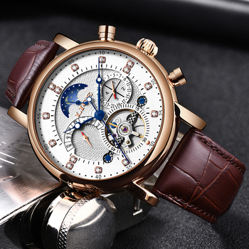 Gift LIGE Men Watch Mechanical Tourbillon Luxury Fashion Brand Leather Men Sport Watches Mens Automatic Watch Relogio Masculino relogio masculino sekaro moon phase mens watches top brand luxury gold men watch automatic mechanical leather wristwatches
