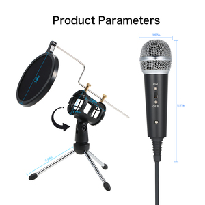 Image 4 - Professional Condenser Microphone MikrofonStudio Recording Mic Microphones with Mini MIC Stand for iPhone Laptop PC Tablet