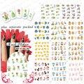 2015NEW 90 UNIDS/LOTE BLE399-409 Conejo De Pascua Huevo De Gallina DesignDecals Tips nail sticker Pegatinas de Uñas Postizas Nail Art Water Sticker