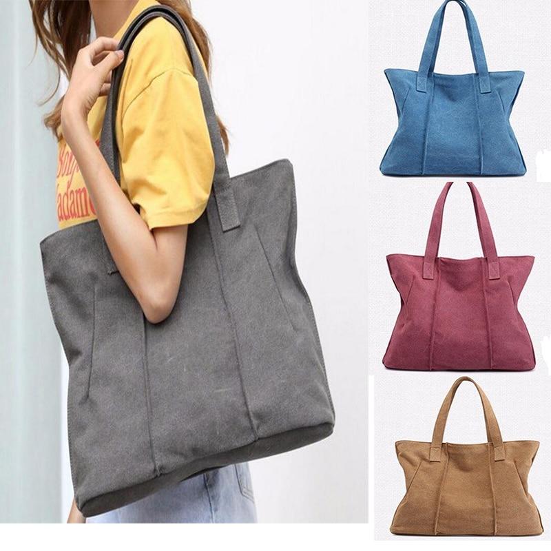 Woman Hand Bag Mochilas Mujer Hobos Canvas Handbags Bolsas Feminina Girls School Shoulder Bags Bucket Travel Totes B180166