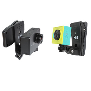 Image 3 - Rotary Clamp Mount Backpack Rec mounts Clip for Xiaomi Yi 4K Xiaoyi Lite MI Mijia 4K Mini GoPro SJCAM Sport Camera Accressories