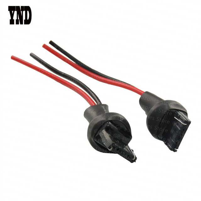2x 7440 T20 Male Adapter Wiring Harness for Car Motorcycle Headlight ...