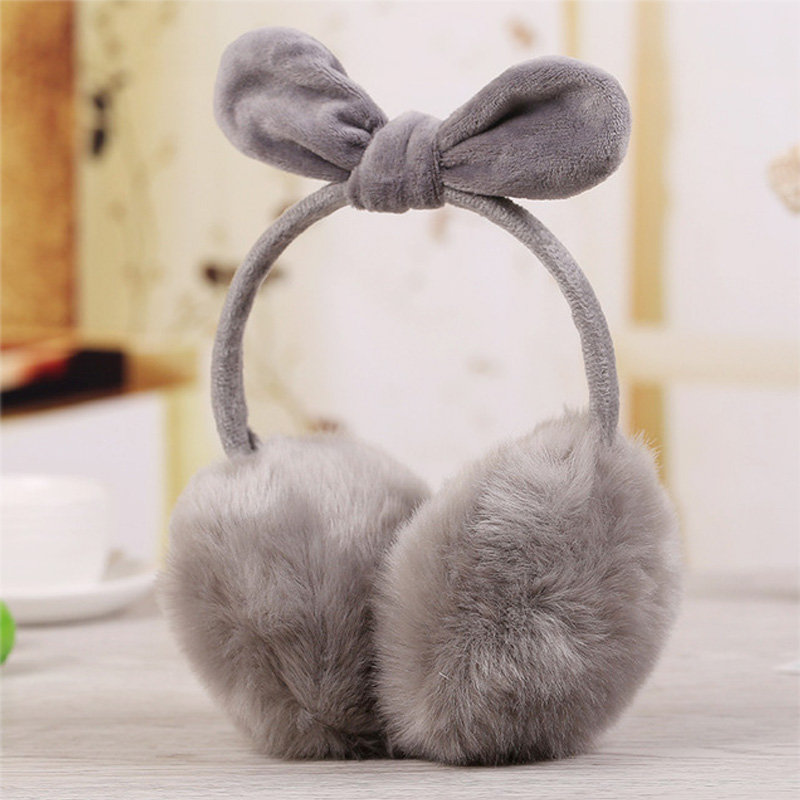 Rabbit Ears Fur Winter Earmuffs Ear Muffs Warmers Winter Comfort Warmuffs Warm Fur Headphones For Women Girls Winter Accessories