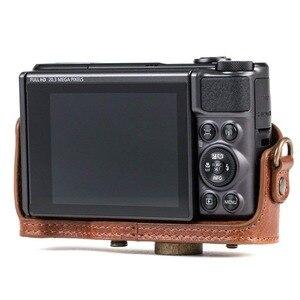 Image 5 - ريترو بو الجلود حقيبة كاميرا غطاء واقٍ مزخرف لهاتف آيفون غطاء مع حزام لكانون باور شوت SX740 HS SX730 HS SX720 HS كاميرا رقمية