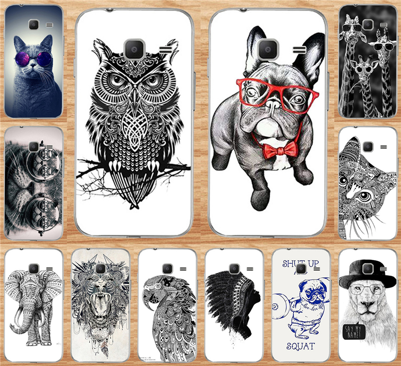 Case For Samsung Galaxy J1 Nxt / J1 mini (2016) J105 J105H J105F SM-J105H Cell Phone Case Painting Cool Cat Owl Dog Cover Shell