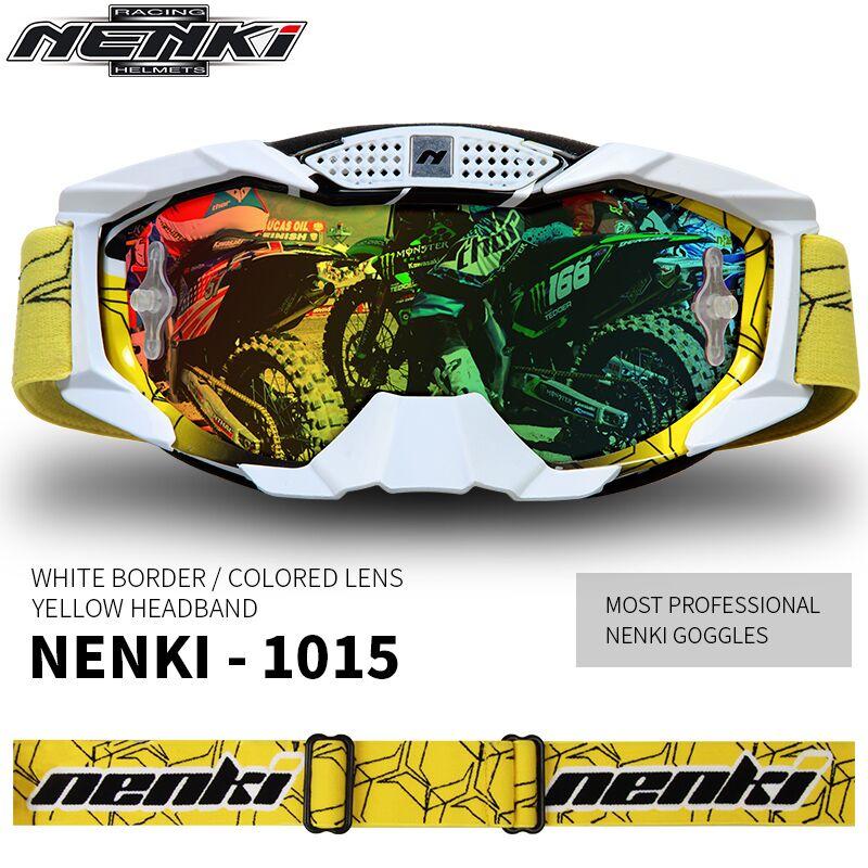 Lunettes de Motocross de marque Nenki lunettes de moto hors route oculos Motorbiker Gafas casque lunettes - 6