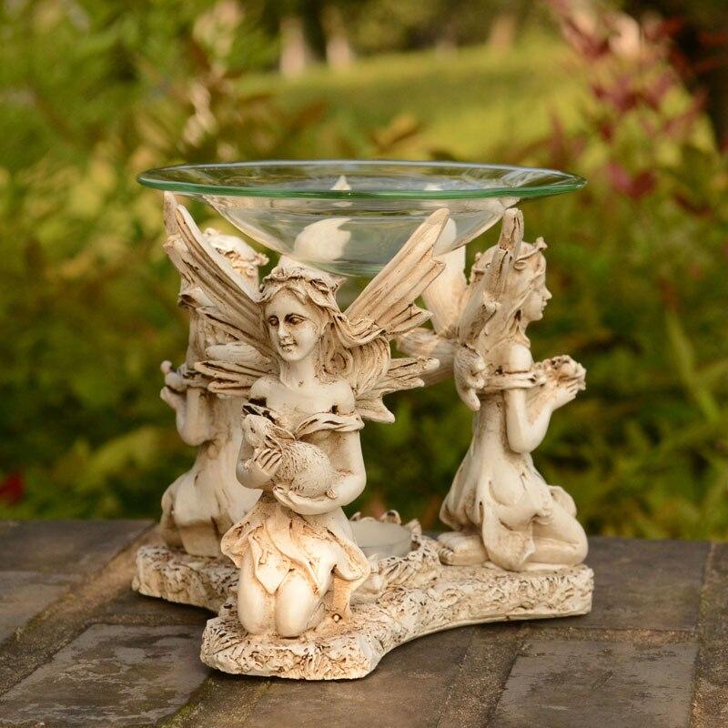 Europa Ángel TeaLight Candle Holder Aroma Furnace Burner Wedding - Decoración del hogar - foto 5