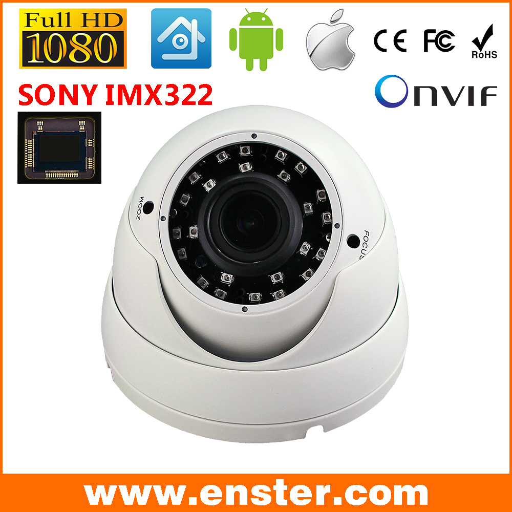 ФОТО Free shipping 1080P 2.0MP Full-HD Vandalproof Metal Dome IP Camera 1/2.8