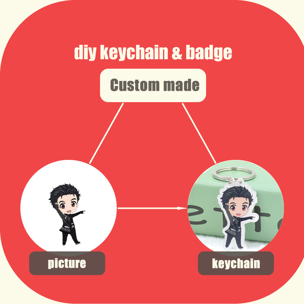 Custom made Anime keychain Cartoon badge