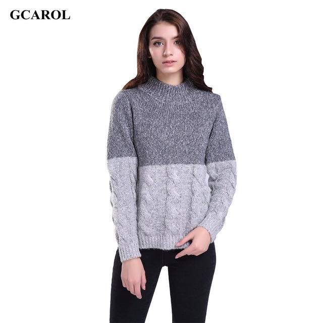 a9f886183a6 Women New Korean Twist knitting Sweater Contrast Color Design Crop Sweater  Pullover Spring Autumn Winter Jumper