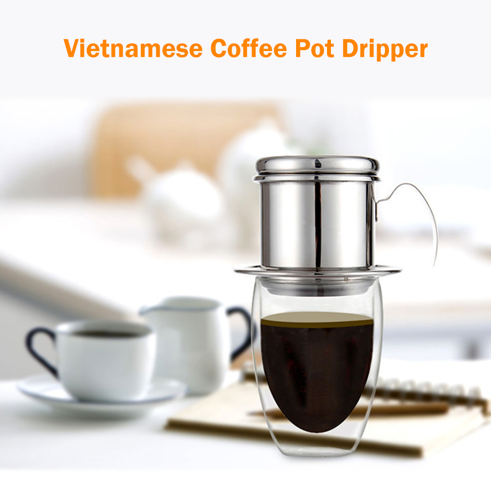 Image 5 - Portable Coffee Dripper Vietnamese Coffee Maker Dripper Stainless Steel Coffee Filter Pot Outdoor Tableware Travelling-in Outdoor Tablewares from Sports & Entertainment