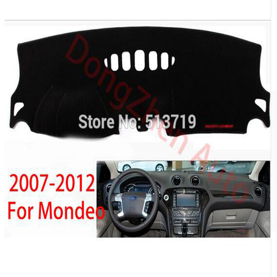 Dongzhen For Ford Mondeo 2007-2012 Right Hand Drive Auto Car Dashboard Avoid Light Pad Instrument Platform Desk Cover Mat Carpet