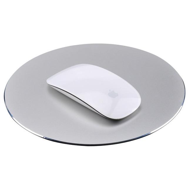 Nuevo Metal De Aluminio Juego Gaming Mouse Pad Antideslizante Ordenador PC portátil Mousepad Alfombrillas de ratones en el envío libre