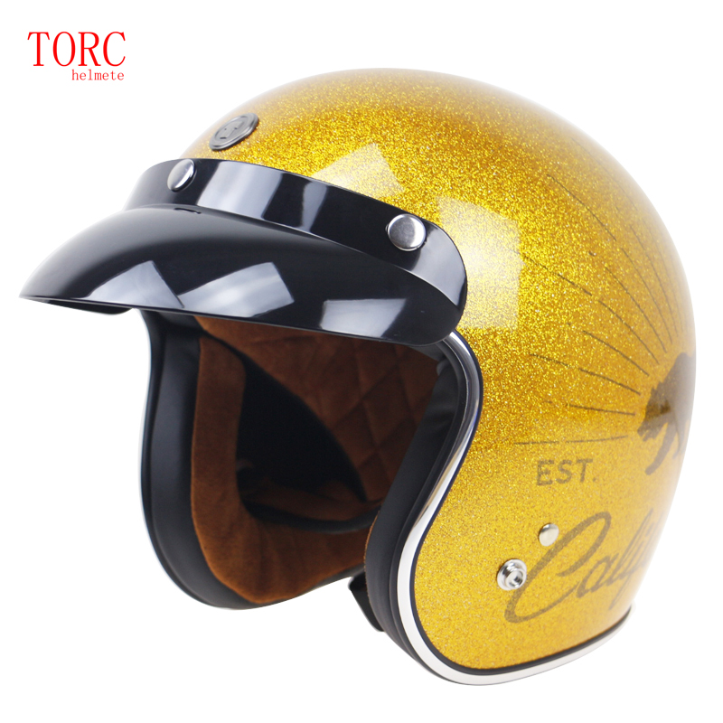 Original TORC T50 3/4 open face helmet DOT approved motorcycle helmet with Visor Jet helmet for adults four seasons for top gear the stig helmet with silver visor tg collectable like simpson pig yellow motorcycle helmet you re the stig