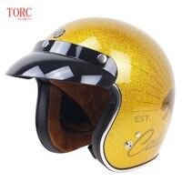 Original TORC T50 3 4 Open Face Helmet DOT Approved Motorcycle Helmet With Visor Jet Helmet