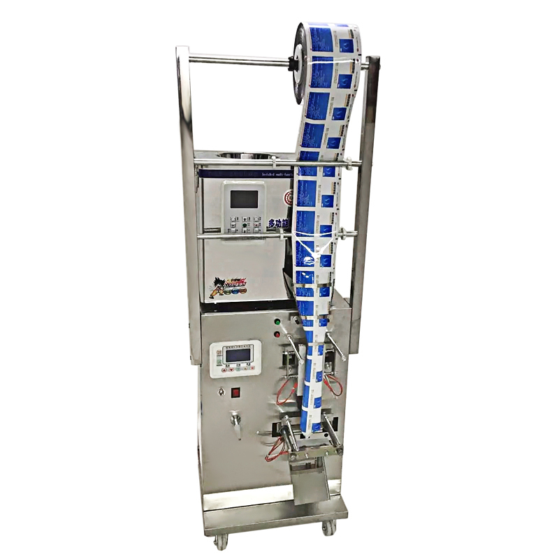 Rotary type fill and seal machine for salt, tea leaf, seed packing machine, back side sealer machine