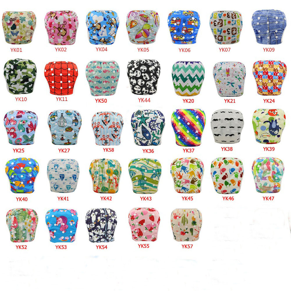 10Pcs Lot Baby Swim Diapers Adjustable Cloth Diapers Cover Pool Pants Waterproof Breathable Diaper Nappy Changing