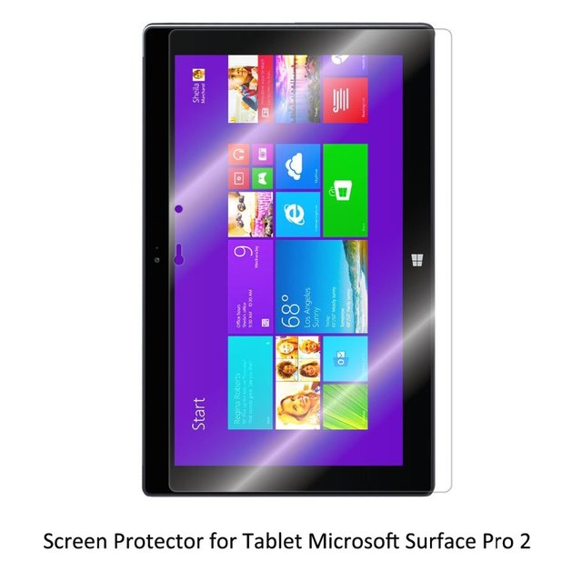 Clear LCD PET Film Anti-Scratch/ Anti-Bubble / Touch Responsive Screen Protector for Tablet Microsoft Surface Pro 2