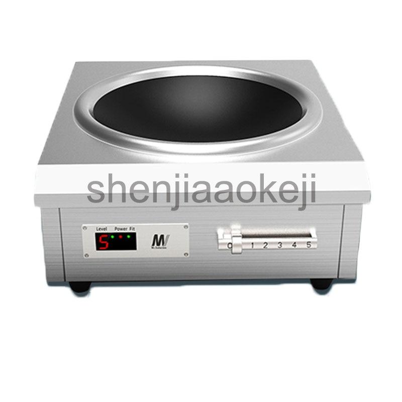 Induction commerciale cuisinière 6000 w haute-puissance concave cantine cuisinières remuer frire poêle 220 v 1 pc