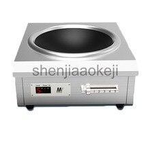 Коммерческий индукционная плита 6000 Вт высокой мощности вогнутая столовой плиты обжаривают плита 220 В 1 шт.