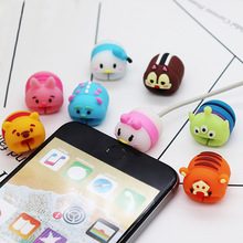 Cute Cable Protector Bite for Universal Android Apple cable Winder Phone holder Accessory Chompers Novelty Cartoon Animal Dolls