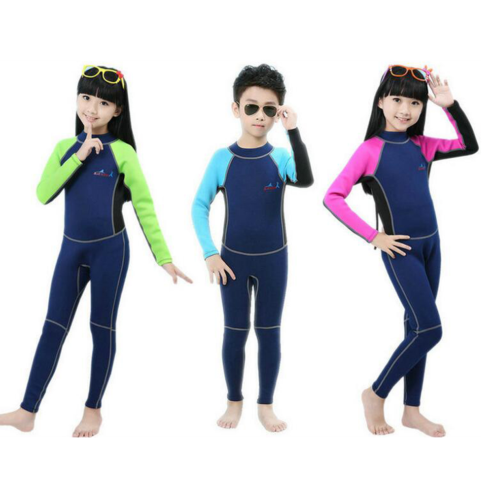 2MM Children Neoprene Swim Wetsuit Block Uv Surf Bathing Conjoined Diving Suit Sea Diving Floating Snorkeling Clothes Swimsuit купальник sea swim 3071