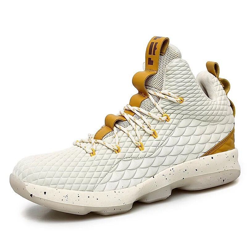 New High Top Lace Up  James Basketball Shoes Cushioning Shockproof Couple Georgetown Athletic Outdoor Sport Shoes