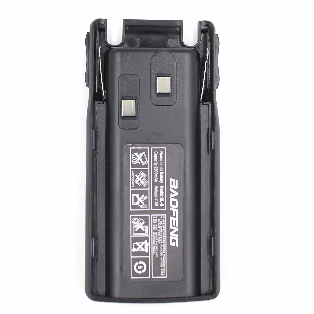 Replacement UV82 Battery Baofeng UV-82 Dual PTT  BL-8 2800mAh 7.4V Li-ion Battery For UV-82 UV-8D UV-89 UV-8 Two Way Radio