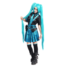 VOCALOID V+ Cosplay Hatsune Miku Love War/Love Philosophy Costume Womens Dress School Uniforms Sailor Suits