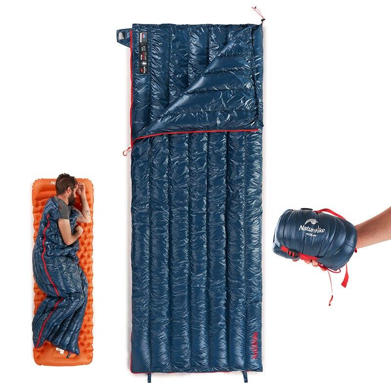 Sac de couchage en duvet d'oie de Camping léger imperméable naturetrekking, Compact avec sac de Compression-idéal pour 3 saisons à l'extérieur