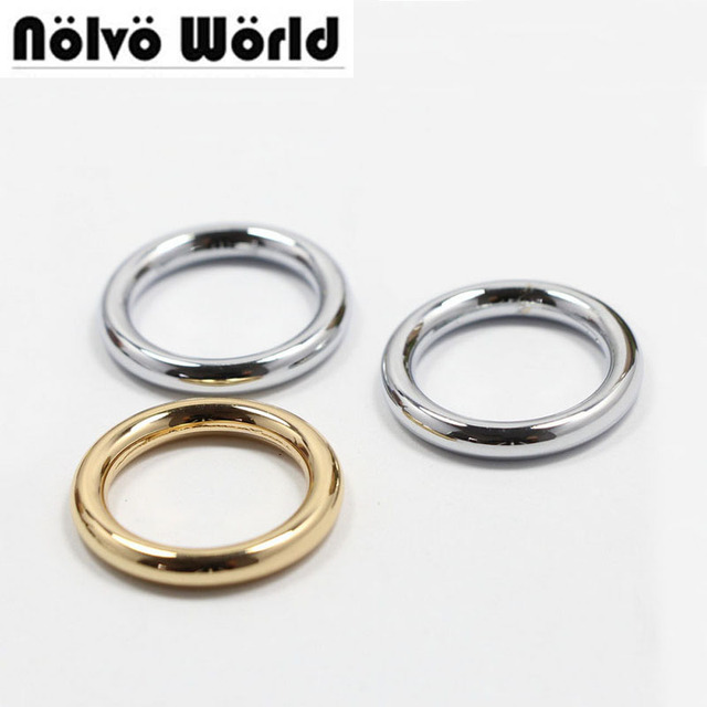 4.0mm line 3/4 inch 50pcs/lot O Rings die casting gold silver tone ...