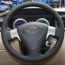 Сияющий пшеницы Вручную прошитый Черный Кожаный Руль Обложка для Toyota Corolla 2006-2010 Toyota Corolla EX
