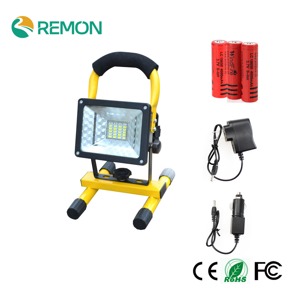 Rechargeable Portable Spotlight LED Floodlight 24led Movable Outdoor Camping Light Grassland 3 18650 Battery Charger