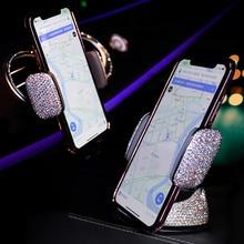 Car Rhinestone Ornament Mobile Phone Mounts Holder Universal