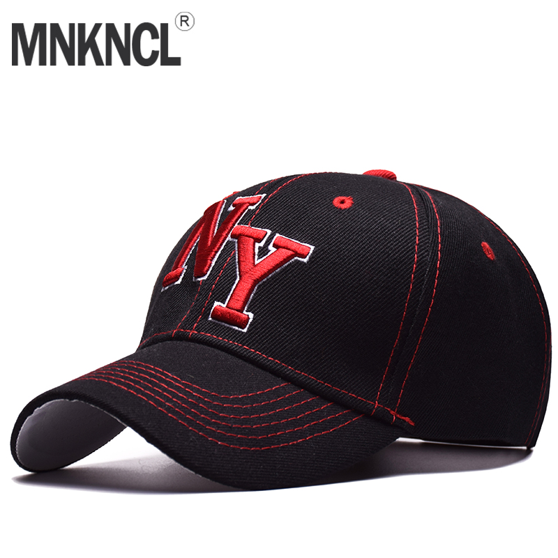 11bea797225 MNKNCL 2018 New Unisex 100% Cotton Outdoor Baseball Cap NY Embroidery  Snapback Fashion Sports Hats For Men   Women Caps