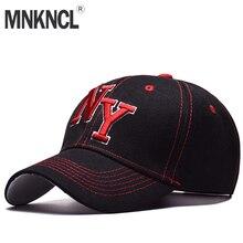 MNKNCL 2018 nuevo Unisex 100% algodón exterior gorra de béisbol NY bordado  Snapback moda deportes sombreros para hombres y mujer. 44ccde9e812