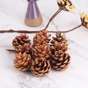 Image 5 - 10pcsธรรมชาติPine Conesอุปกรณ์Photo Propsคริสต์มาสตกแต่งต้นไม้Toppers Pinecone Xmasปีใหม่DIYตกแต่ง