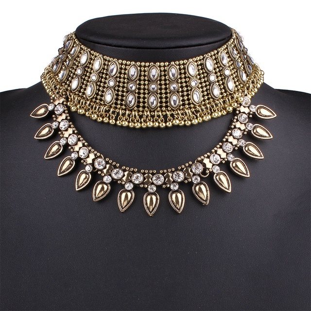2017 Nueva disign moda collar collar collar y colgante de collar de gargantilla declaración lujo joyería colares feminino maxi