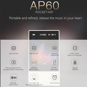 Image 2 - Hidizs AP60 השני HiFi מתוקים Bluetooth 4.0 apt x DSD USB DAC FLAC AAC APE MP3 מוסיקה נגן AKM4452VN MAX97220A AP60II AP60 השני