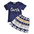 Baby girl clothing set letter summer 2017 t shirt+skirt 2pcs toddler girls clothes sets fashion kids clothing set for baby girls