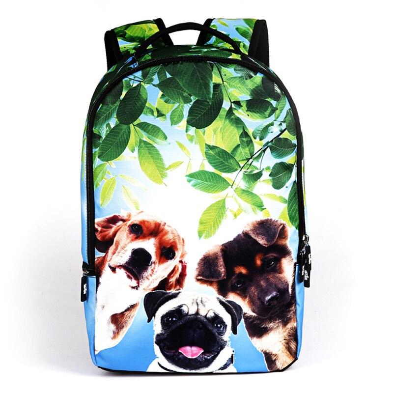 Повседневное полиэстер Колледж студент рюкзак с рисунком животных Для женщин рюкзак модные школьные сумки для подростков Bolsa Feminina